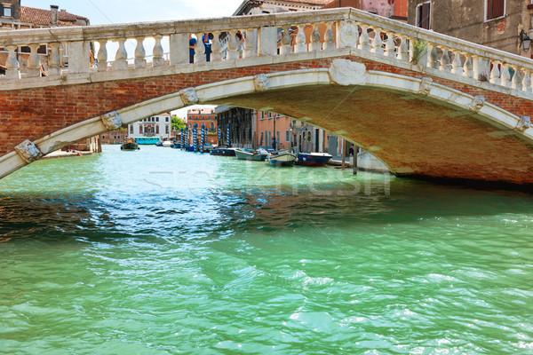 Most kanał budynku miasta morza niebieski Zdjęcia stock © vapi