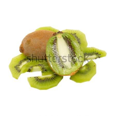 Fresco kiwi isolado branco natureza verde Foto stock © vapi