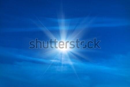 Moon shining on blue night sky Stock photo © vapi