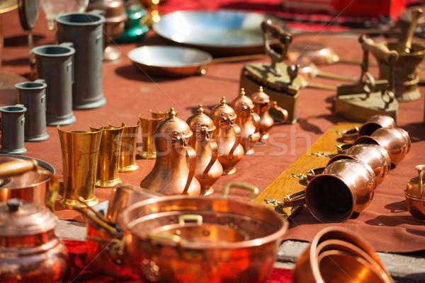 ретро медь кофе арабский другой старые Сток-фото © vapi