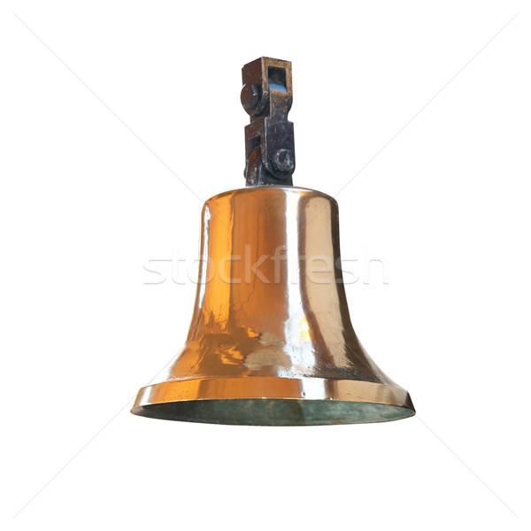Ships bell from brass Stock photo © vapi
