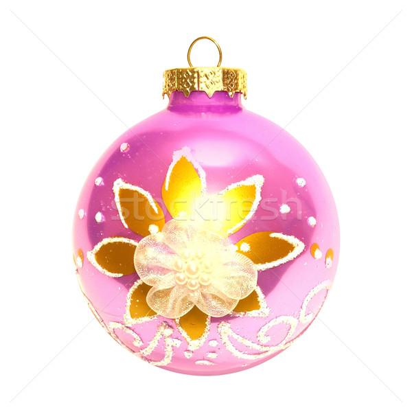 Różowy christmas cacko odizolowany biały świetle Zdjęcia stock © vapi