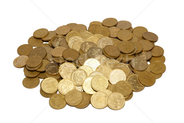 Bunch of gold coins isolated on white. Stock photo © vapi
