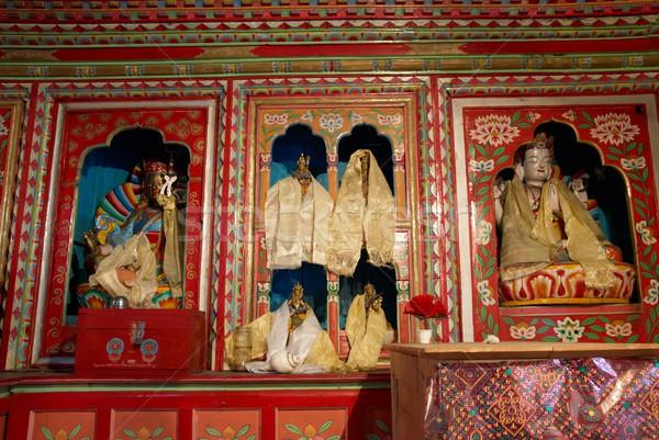 à l'intérieur temple tibet Népal mur art Photo stock © vapi