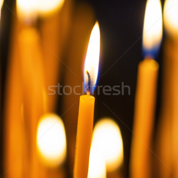 Light of candles in the church Stock photo © vapi
