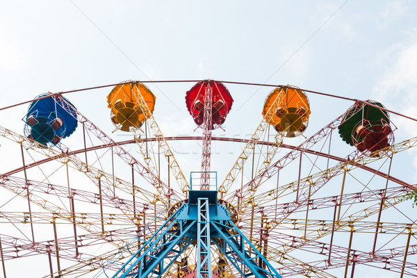 Ferris wheel isolated on white Stock photo © vapi