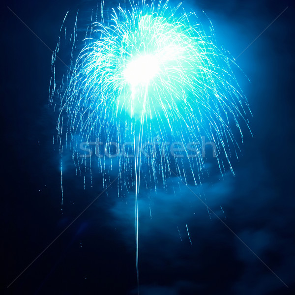 Blue fireworks Stock photo © vapi