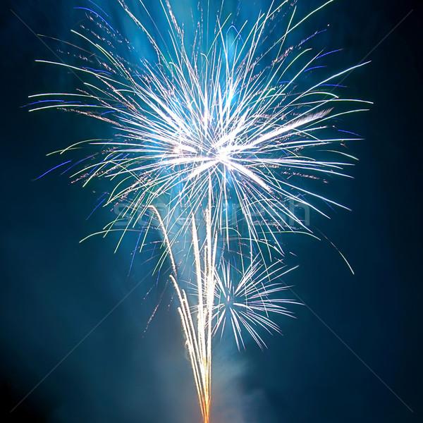 Fogos de artifício água trabalhar abstrato luz arte Foto stock © vapi