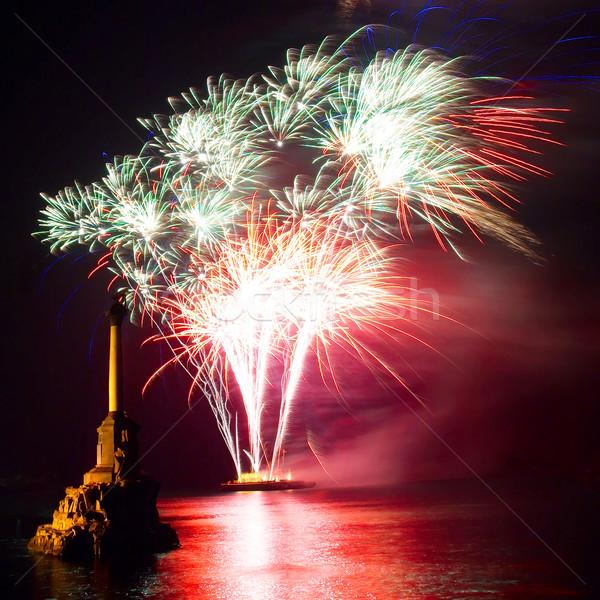 Foto d'archivio: Fuochi · d'artificio · sopra · acqua · party · felice · lavoro