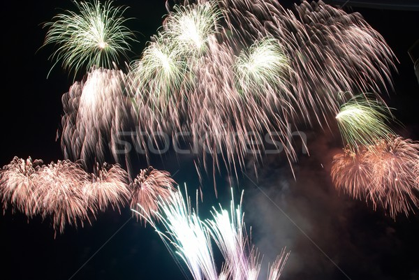 Colorful fireworks Stock photo © vapi