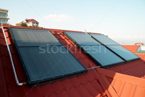 代替案 エネルギー 太陽系 家 屋根 ビジネス ストックフォト © vapi