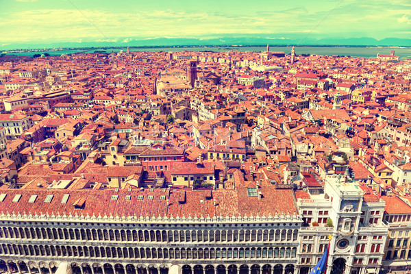 Venedik çatılar üzerinde evler deniz Stok fotoğraf © vapi