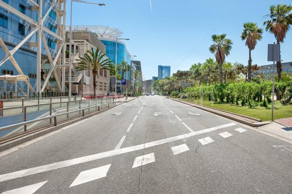 道路 街 景観 都市 トラフィック バルセロナ ストックフォト © vapi