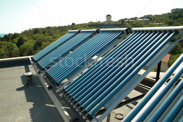 Vacuum solar water heating system Stock photo © vapi