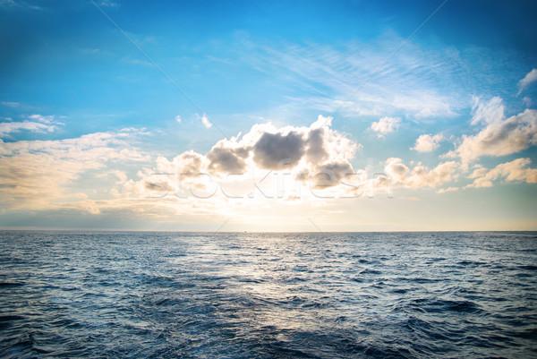 Deniz manzarası bulutlar deniz mavi su gökyüzü Stok fotoğraf © vapi