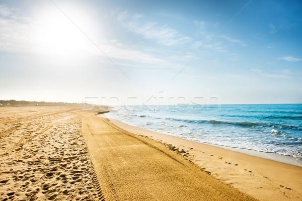 Long beach kum deniz uzun plaj kumu Stok fotoğraf © vapi