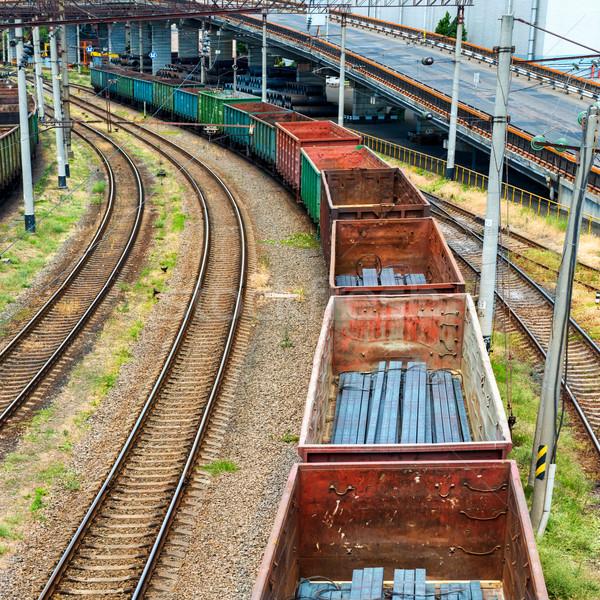 Stock fotó: Vonat · teher · üzlet · kék · ipar · forgalom