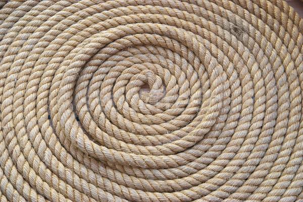 Circle bunch of ship rope Stock photo © vapi