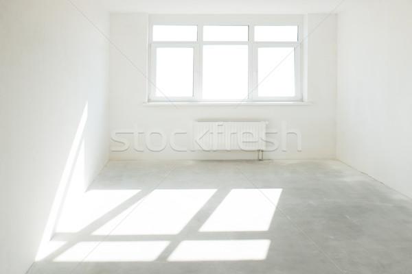 Fehér szoba ablak tele fény üzlet Stock fotó © vapi
