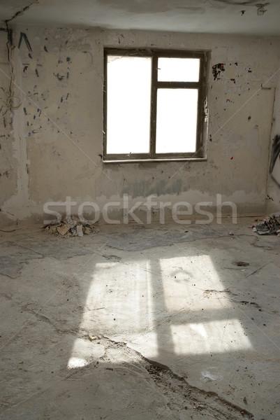 Elhagyatott üres szoba ablak fény épület fal Stock fotó © vapi