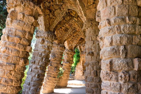 Stone columns of Park Guell Stock photo © vapi