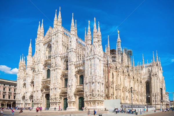 Daytime view of famous Milan Cathedral Duomo Stock photo © vapi