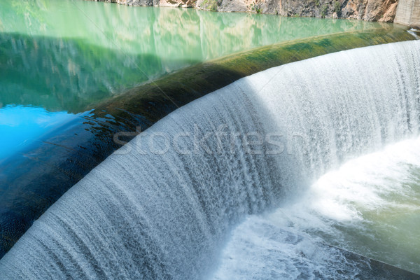 Dam on river in the mountains Stock photo © vapi
