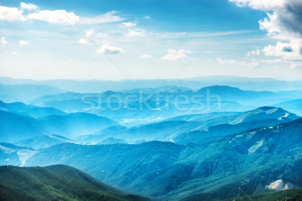Blue mountains and hills Stock photo © vapi