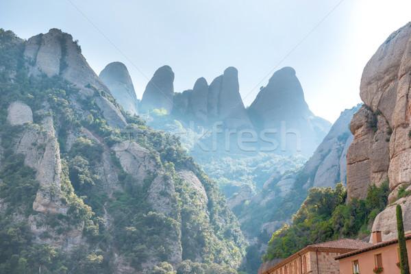 修道院 バルセロナ スペイン サンタクロース 修道院 山 ストックフォト © vapi