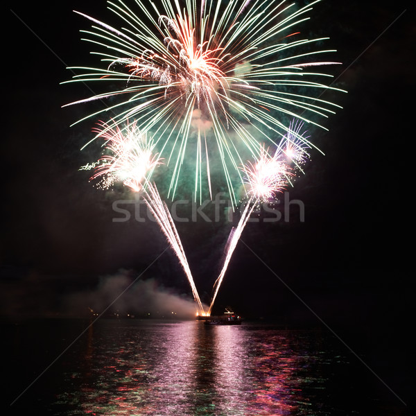 Green colorful fireworks Stock photo © vapi