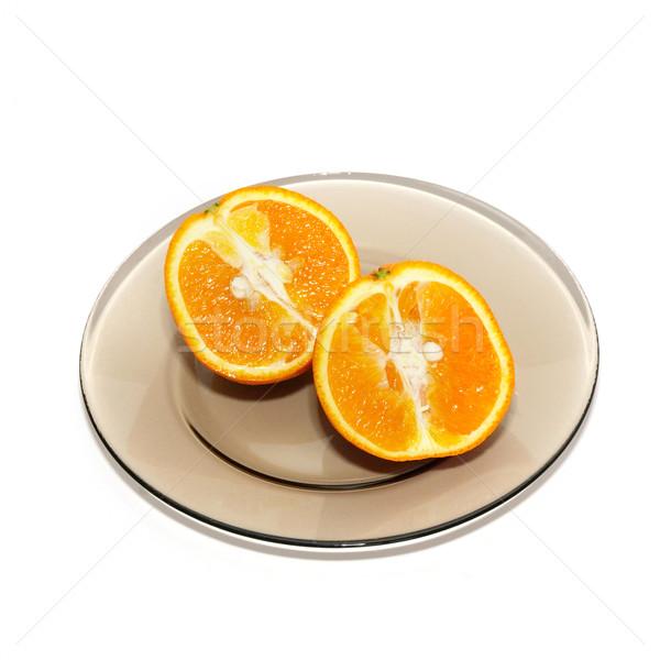 オレンジ プレート 孤立した 白 食品 自然 ストックフォト © vapi