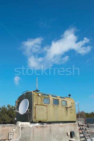 Russo militar cabine antena céu Foto stock © vapi