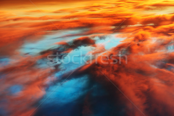 Colorful orange and blue dramatic sky Stock photo © vapi