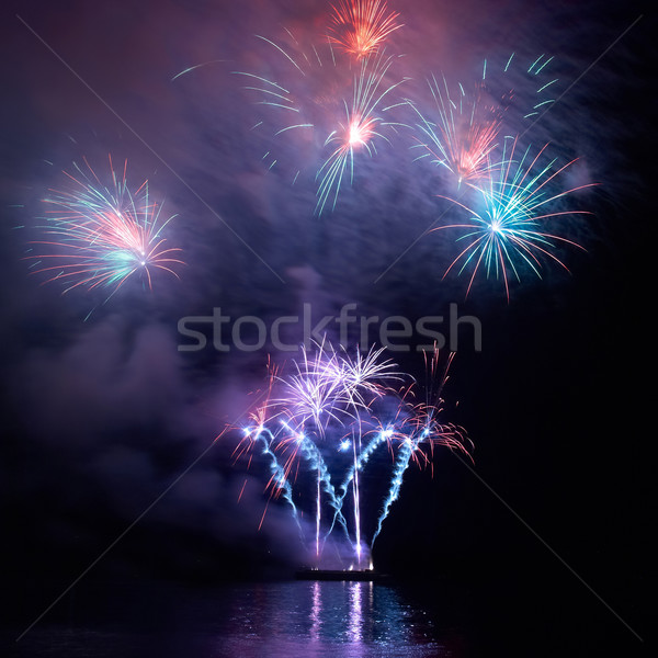 Colorful holiday fireworks Stock photo © vapi