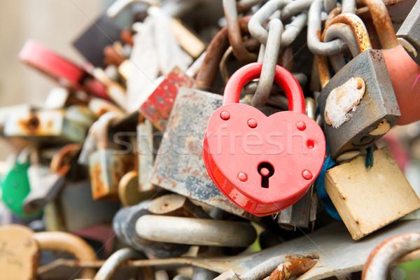 Love red romance lock Stock photo © vapi