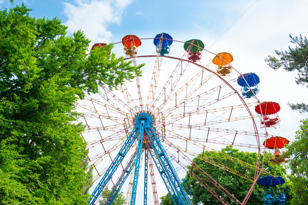 Stock photo: Ferris wheel in the green park