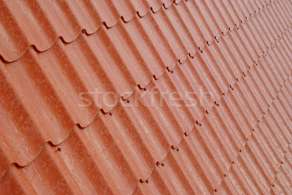 Wall of textured red tile. Stock photo © vapi
