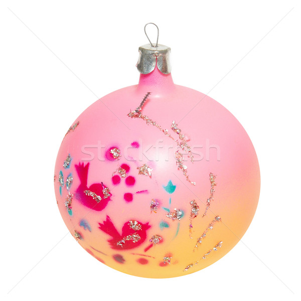 Rosa Weihnachten Spielerei isoliert weiß Licht Stock foto © vapi