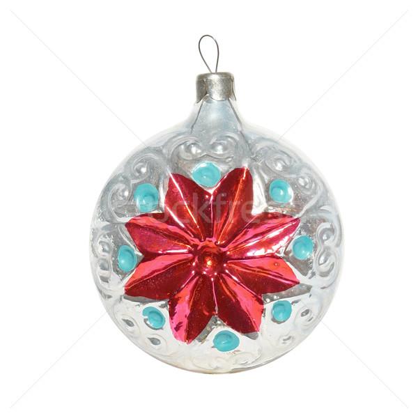 Noel önemsiz şey yalıtılmış beyaz ışık cam Stok fotoğraf © vapi
