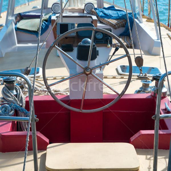 Volante yate azul mar agua deporte Foto stock © vapi