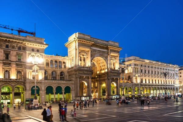 人 徒歩 ギャラリー 広場 ミラノ イタリア ストックフォト © vapi