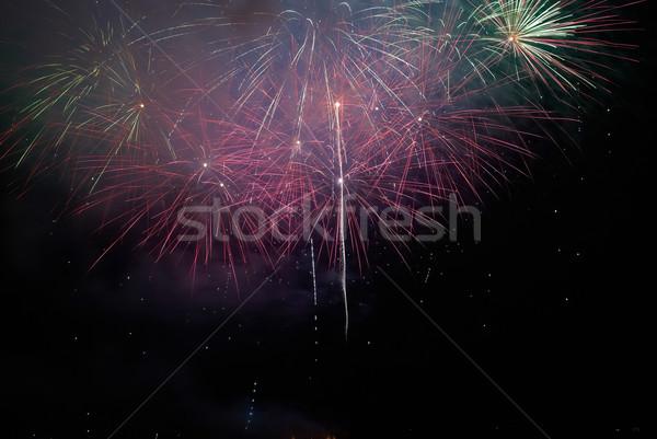 Coloré vacances feux d'artifice noir ciel heureux Photo stock © vapi