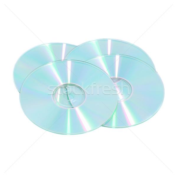 Boglya kompakt izolált fehér zene fény Stock fotó © vapi