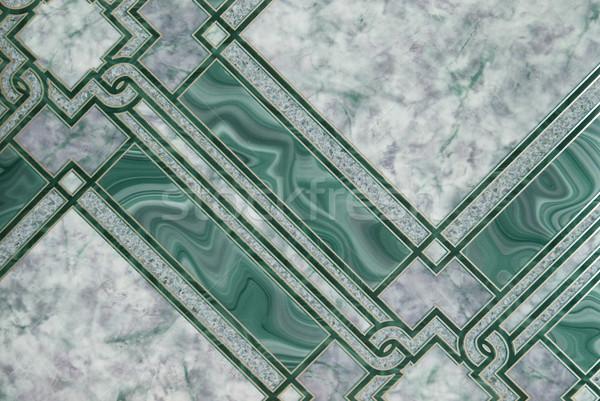 Green marble pattern for background. Stock photo © vapi