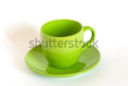 緑茶 カップ ソーサー 白 キッチン レストラン ストックフォト © vapi
