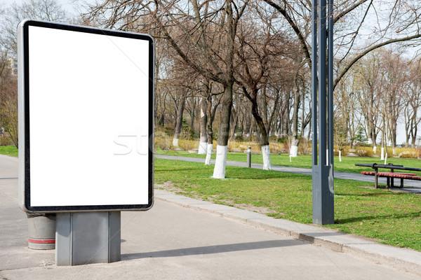 Vuota cartellone strada urbana verde bianco isolato Foto d'archivio © vapi