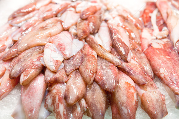 Many squids on the market Stock photo © vapi