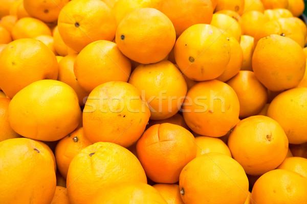 Pile of fresh oranges and mandarins Stock photo © vapi