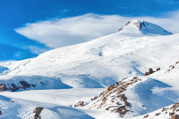 Winter mountains with snow peak Stock photo © vapi