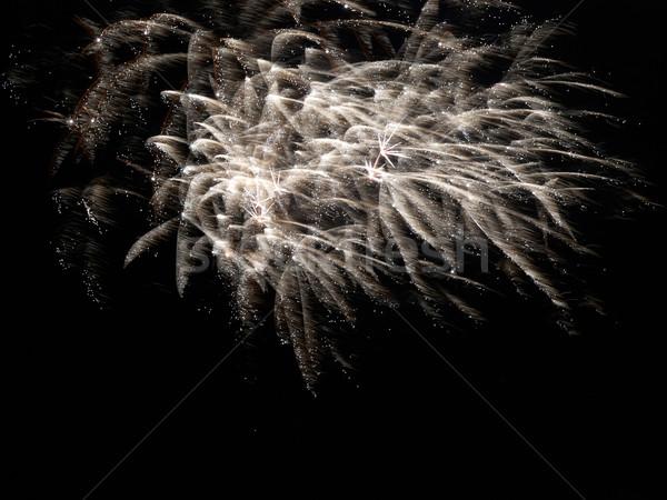 Colorido férias fogos de artifício amarelo preto céu Foto stock © vapi